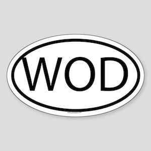 WOD Oval Sticker