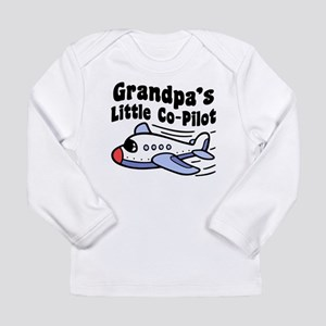 Grandpa's Little Co-Pil Long Sleeve Infant T-Shirt