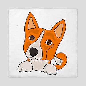 Fun Basenji Dog Queen Duvet