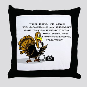 TURKEY SCHEDULING BREAST AND THIGH RE Throw Pillow