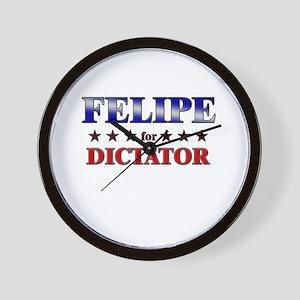 FELIPE for dictator Wall Clock
