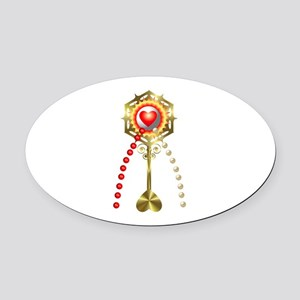 Holy Communion: Divine Mercy Oval Car Magnet