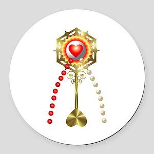 Holy Communion: Divine Mercy Round Car Magnet