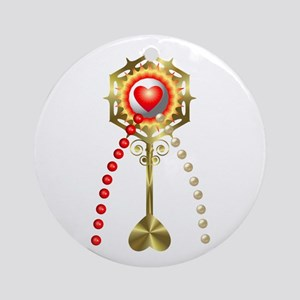 Holy Communion: Divine Mercy Round Ornament