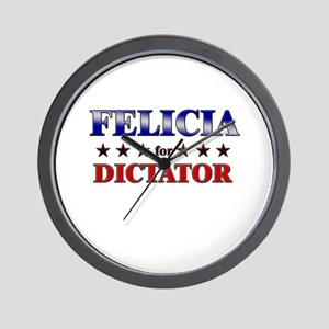 FELICIA for dictator Wall Clock