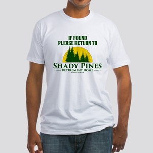 Return to Shady Pines Fitted T-Shirt