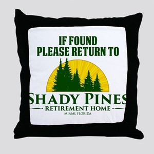 Return to Shady Pines Throw Pillow