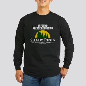Return to Shady Pines Long Sleeve Dark T-Shirt