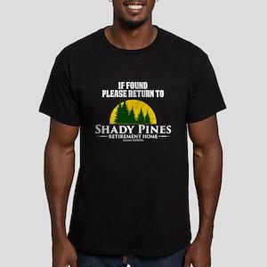 Return to Shady Pines Men's Dark Fitted T-Shirt
