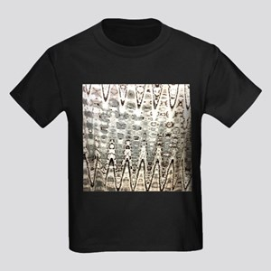 beige grey ripple abstract T-Shirt