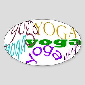 Yoga Oval Sticker