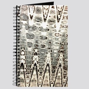 beige grey ripple abstract Journal