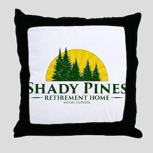 Shady Pines Logo Throw Pillow