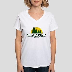 Shady Pines Logo Women's V-Neck T-Shirt