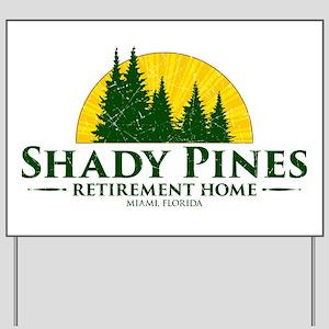 Shady Pines Logo Yard Sign