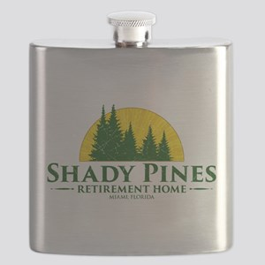 Shady Pines Logo Flask