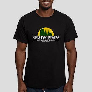 Shady Pines Logo Men's Fitted T-Shirt (dark)