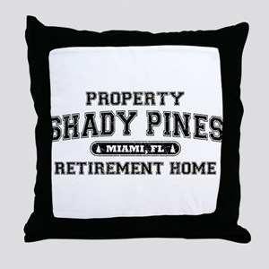 Property of Shady Pines Throw Pillow