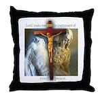 Crucifix/Pieta Throw Pillow