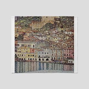 Gustav Klimt Malcesine on Lake Garda Throw Blanket