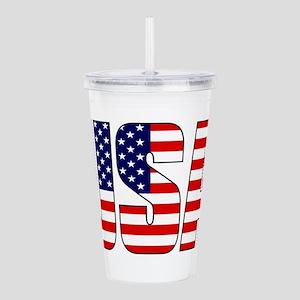 USA Flag Acrylic Double-wall Tumbler