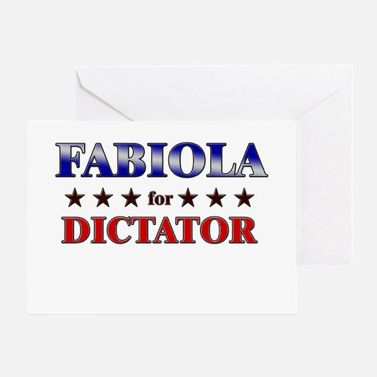 FABIOLA for dictator Greeting Card