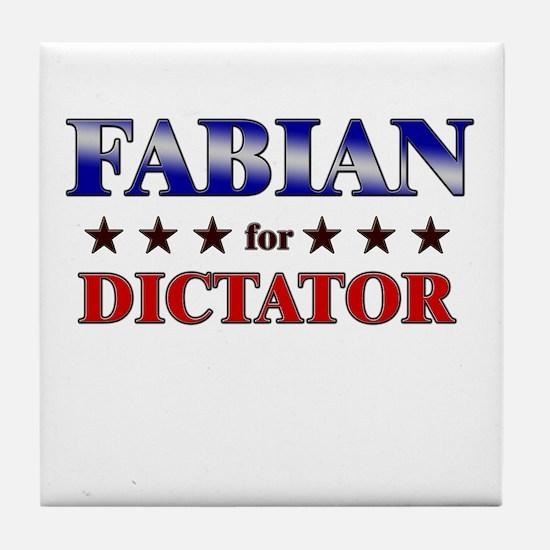 FABIAN for dictator Tile Coaster