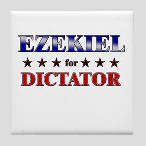EZEKIEL for dictator Tile Coaster