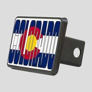 Colorado Flag Rectangular Hitch Cover