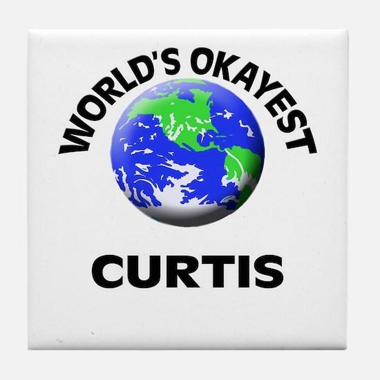 World's Okayest Curtis Tile Coaster