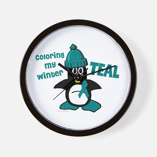 Winter Penguin 3 (OC Awareness) Wall Clock