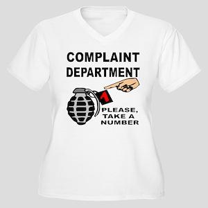 Complaint Dept Ta Women's Plus Size V-Neck T-Shirt