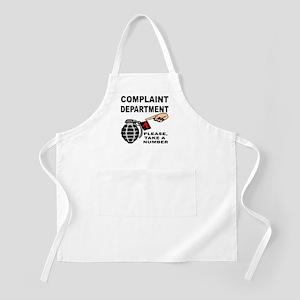 Complaint Dept Take Num Apron
