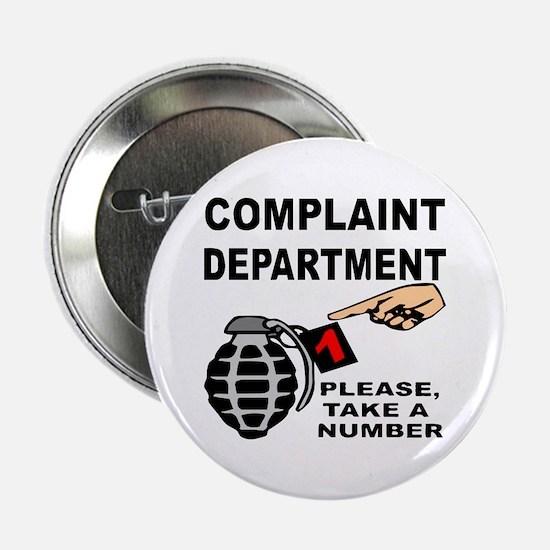 """Complaint Dept Take Num 2.25"""" Button"""