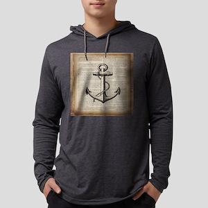 nautical vintage anchor Long Sleeve T-Shirt