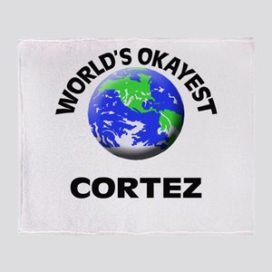 World's Okayest Cortez Throw Blanket