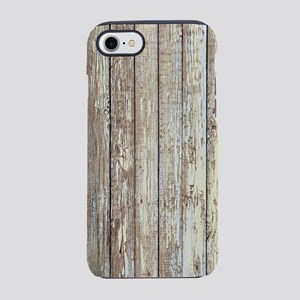 shabby chic white barn wood iPhone 8/7 Tough Case