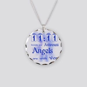 11:11 ANGEL MESSAGE Necklace Circle Charm