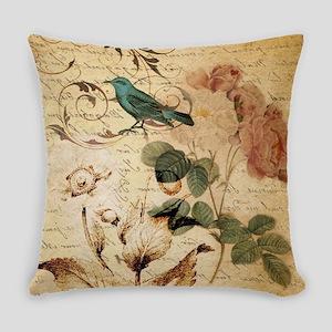 vintage rose bird paris french bot Everyday Pillow