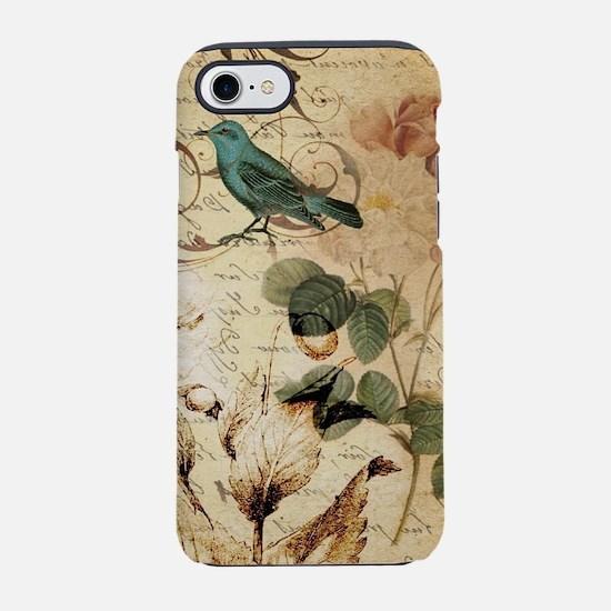 vintage rose bird paris fren iPhone 8/7 Tough Case