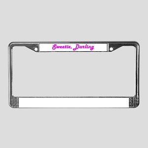 Sweetie Darling License Plate Frame