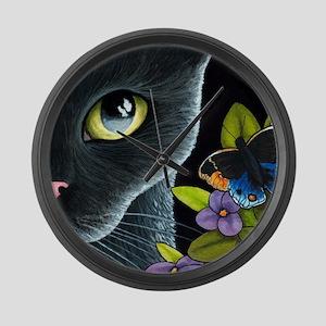 Cat 557 Large Wall Clock