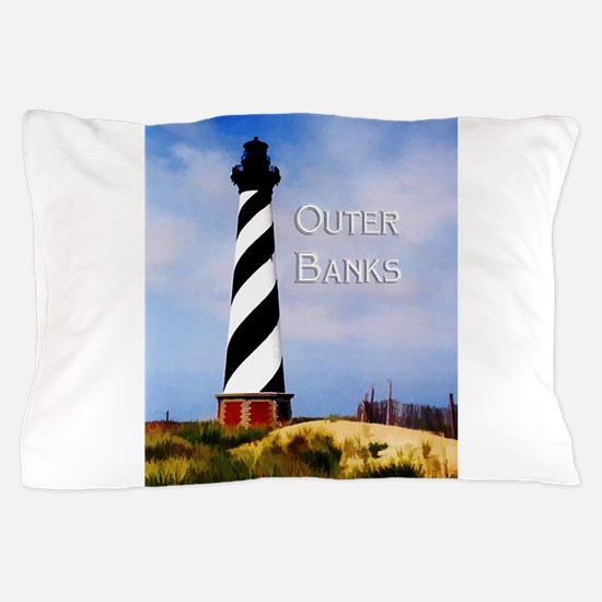 Cape Hatteras Lighthouse Poster Text O Pillow Case