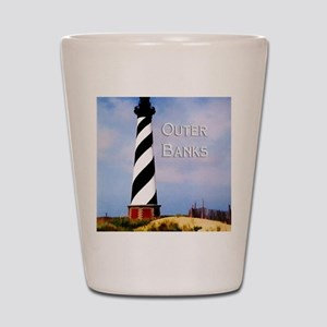 Cape Hatteras Lighthouse Poster Text Ou Shot Glass