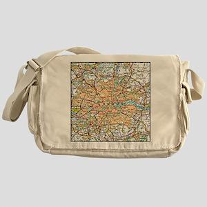 Map of LONDON, ENGLAND Messenger Bag