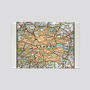 Map of LONDON, ENGLAND Magnets