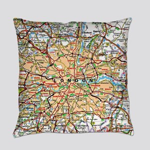 Map of London England Everyday Pillow