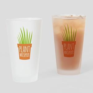 Plant Whisperer Drinking Glass