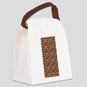 Animal Print GIRAFFE Canvas Lunch Bag