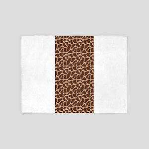 Animal Print GIRAFFE 5'x7'Area Rug